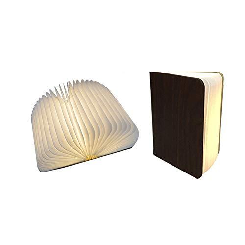 ZSTY Drahtlose Bluetooth Audio, LED-Booklamp Imported Logs, kompatibel mit Smartphones, Tablets, Laptops und Desktops