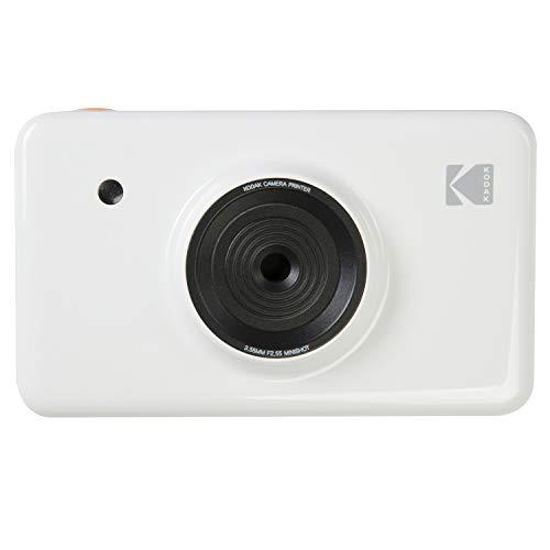Kodak Mini SHOT Impresiones inalámbricas de 2x3 pulgadas con 4 PASS Tecnología de impresión patentada Cámara digital de impresión instantánea 2 en 1 (Blanco)