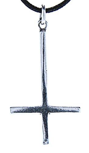 Kiss of Leather Kreuz Anhänger aus 925 Sterling Silber mit Kette_55 cm