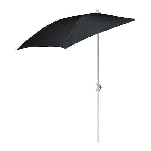 IKEA Wand-Sonnenschirm 'Flisö' Balkon-Standsonnenschirm 160x100cm Fläche - mit 95% UV-Schutz -...