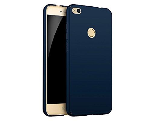 EIISSION Case Kompatibel mit Huawei P8 Lite (2017) Hülle, Hardcase Ultra Dünn Huawei P8 Lite (2017) Schutzhülle aus Hart-PC Case Cover Handyhülle für Huawei P8 Lite (2017)(Dunkelblau)