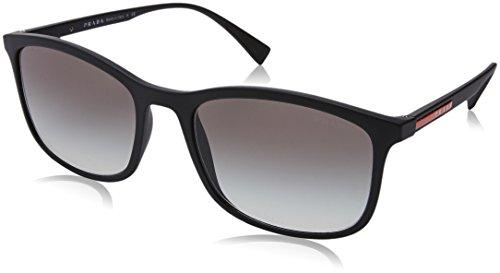 Prada Sport Herren 0PS01TS DG00A7 56 Sonnenbrille, Schwarz (Black Rubber/Grey), (Pradas Für Männer)