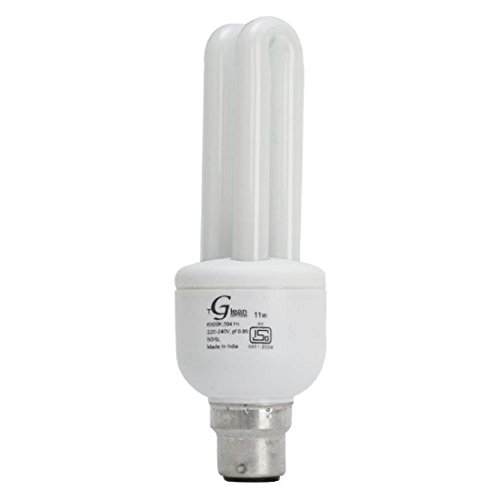 Made in India - 11 Watt - CFL 2 Tube (Compact Fluorescent Light) - Pack of 1 Bulb - ISO 9001 2008 certified - Glean Lights  available at amazon for Rs.160
