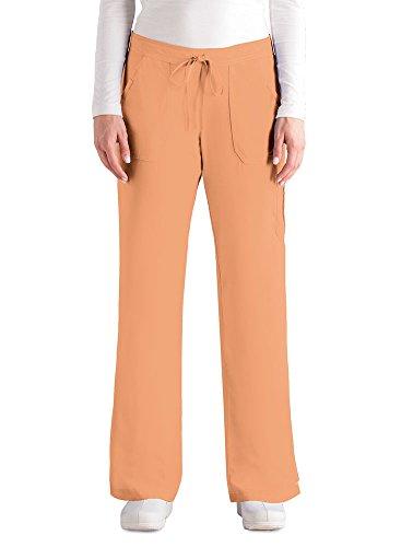 Barco Grey's Anatomy Damen 4245 Junior Fit 4-Pocket Elastische Rückenpartie - Orange - 4X-Groß - Barco Scrubs