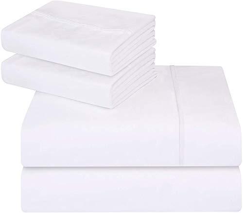 Utopia Bedding Cal Bettwäsche-Set für King-Size-Bett, 4-teilig, Weiß (Cal-king-size-bettwäsche-sets)