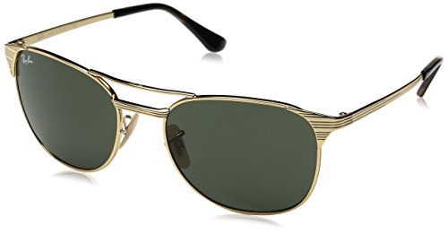 Ray-Ban Herren Sonnenbrille Rb 3429m, Gold/Green, 55