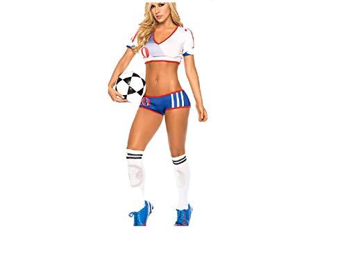 GGT Boutique Weltweite Länder Erwachsenen-Fußball-Kostüm Cheerleader-Kostüm, Damen, TLQZ6230, usa, One Size ()