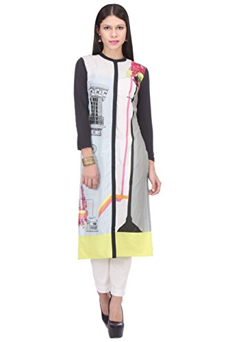 W for Woman Women's Straight Kurta (16AU15594-57205-6-LIGHT Multicolor)  available at amazon for Rs.899