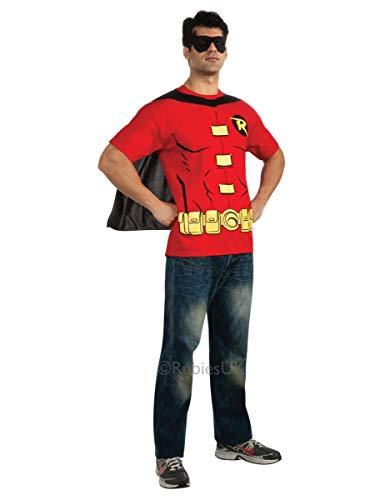 Superhelden Robin Erwachsenen Kostüm Für - Rubie 's Offizielles Robin T-Shirt Set, Erwachsenen-Kostüm-X-Large