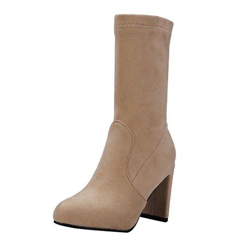 Marron 2017 Bottes Moyenne Chaussures La Lhiver Uh Mode Simple 0fdwq