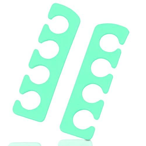 LetiStore Zehen Lackierhilfe für Fußnägel Pediküre Damen Nägel Zehenspreizer Aus Silikon Zum Lackieren 2er Paar Hell Grün