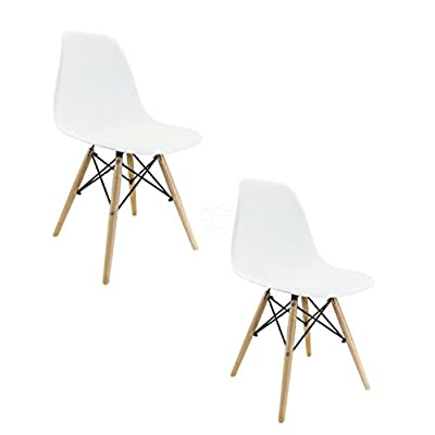 Chair for kids inspired in Eiffel Tower white (2-PACK) produced by Cablematic.com - quick delivery from UK.