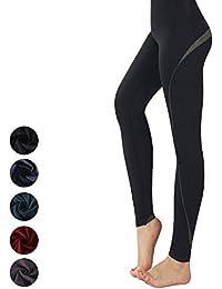 New Mincc Leggings de Sport pour Femme Pantalon Yoga Fitness Minceur Long  avec Poches Basique élastique… c4df9b86848