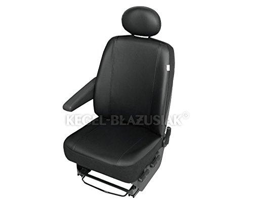 Preisvergleich Produktbild ZentimeX Z938632 Sitzbezüge Fahrersitz / Einzelsitz Armlehne rechts + Armlehne links Kunstleder schwarz