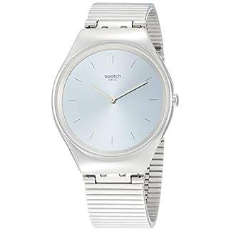 Swatch Reloj Analógico para Unisex Adultos de Cuarzo con Correa en Acero Inoxidable SYXS103GG