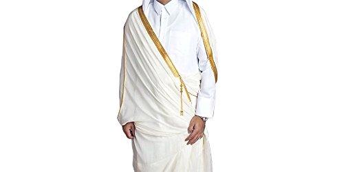 Wüsten Robe Arabisch Saudi Mantel Mishlah Sheikh Royalty Omani Dubai Gulf Weiß