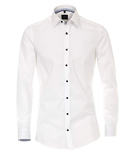 Venti Herren Businesshemd Hemd Body Fit, (Weiß 000), 38