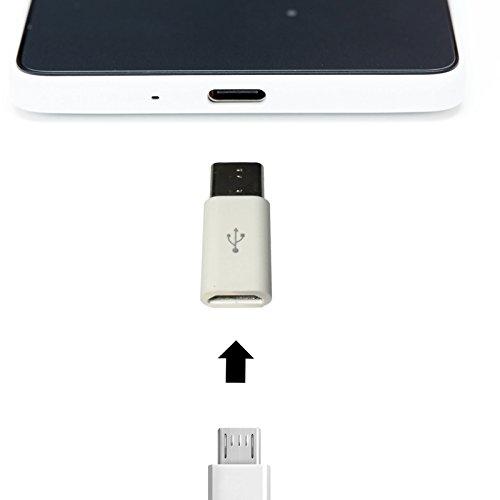 USB 3.1 Typ C Adapter WEIß Micro USB Converter Stecker Type C für ZTE Axon 7