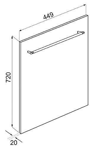 Smeg KIT4CX-1 Küchen- & Haushalts-Zubehör Spülmaschinen-Blende (45cm, 2cm, 72cm)