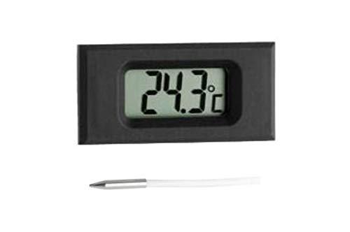 TFA Dostmann Digitales Einbauthermometer, mit Fühlerkabel, Messung der Umgebungstemperatur oder Flüssigkeiten