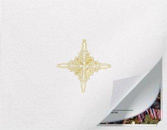 Zertifikat und Dokument Präsentation Ordner mit Gold Folie Wellendichtring, weiß (Paket von 5) (Gold-folie-zertifikat Dichtungen)