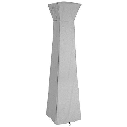 Zerodis Pyramidenfackel-Abdeckung für Terrassenheizung, wasserdicht, Oxford-Gewebe, dreieckig, Glasröhren-Abdeckung für den Außenbereich, langlebig, regendicht, Staubschutz grau