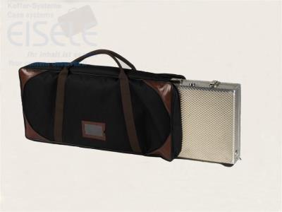 """Soft-Bag-Exclusive \""""SBE\"""" robuste Tasche für (EISELE) Waffenkoffer aus Cordura 1200, edler Look, mit Echtlederecken (820 x 320 x 100 mm SBE-7)"""