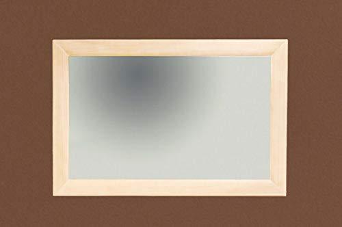 Soma Wand-Spiegel 120 x 80 cm mit Massivholz-Rahmen Quadro, Pinie massiv (BxHxL) 120 x 3 x 80 cm Pinie lipizano