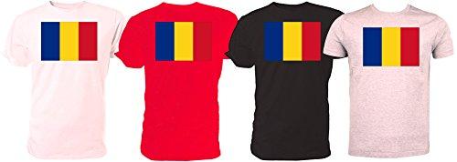Romania Bandiera T Shirt Coppa del Mondo di rugby Red