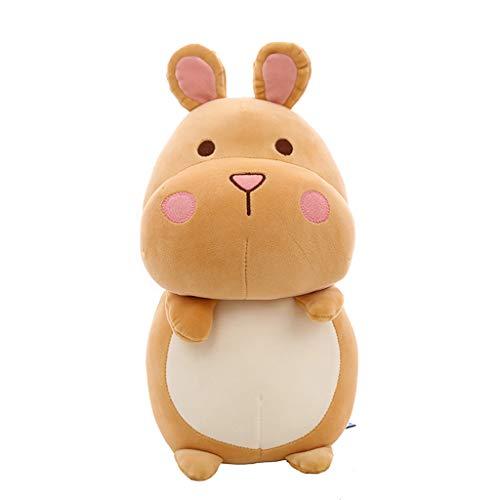 Miss Zhang's shop Plüschtier Niedlichen Hamster Baby Kind Tier Plüsch Kissen Komfort Schlafpuppe 40Cm Khaki Stofftier -