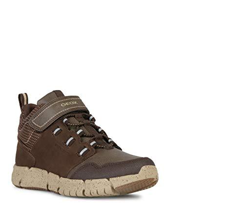 Geox Niños Botas de Invierno FLEXYPER Boy ABX, Chico Botas,Zapatos para niños al Aire Libre,cálidos e Impermeables,Brown/Beige,30 EU / 11.5 UK Child