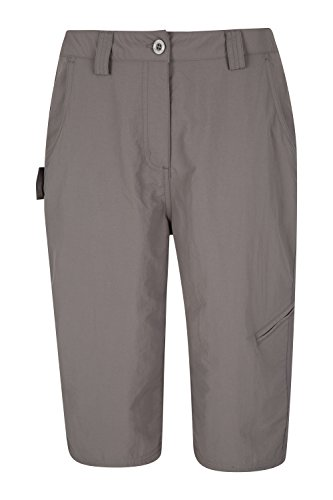Mountain Warehouse Explore Womens Long Shorts - Fast Drying Summer Shorts, Lightweight Ladies Running Shorts, Shrink & Fade Resistant Work Pants - for Hiking, Camping