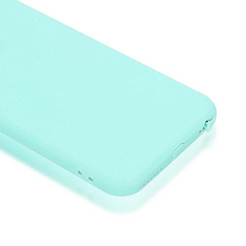 iPhone 6 6S Hülle Herz Handyhülle von NICA, Silikon Case Schutzhülle Gummihülle, Soft Slim Cover Etui Dünne Handy-Tasche, Ultra-Slim Phone Back-Cover Skin Bumper für Apple iPhone-6, Farbe:Rosa Türkis