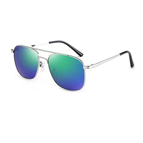 JOLLY Premium Al-Mg-Legierung polarisierte Sonnenbrillen, Spring Sun Glasses für Männer (Farbe : Blue Green)