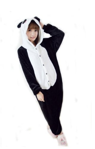 Erwachsene Stich Für Kostüm - Amour-Tier Onesie Pyjama Blau Stich Kostüme Schlafanzug Erwachsene Unisex Tieroutfit tierkostüme Jumpsuit (m, HM016:Panda)