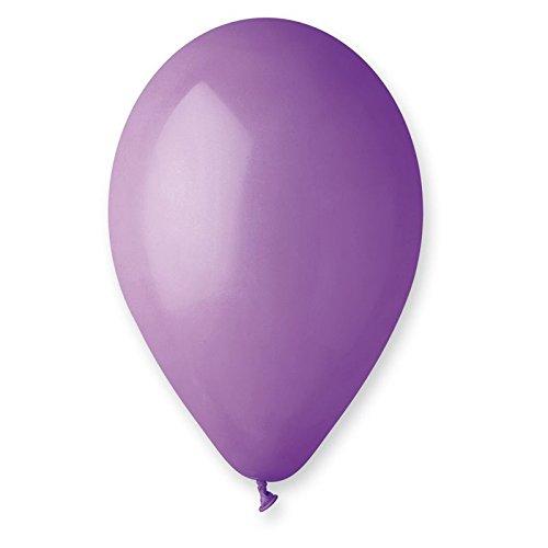 12 ballons pastel lavande
