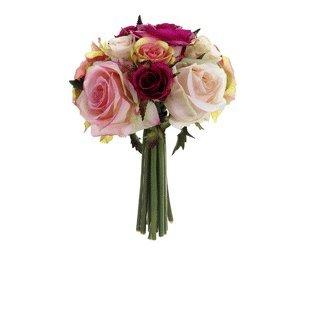 allstate-fbq749-fu-pk-9-in-confetti-rose-bouquet-fuchsia-pink-pack-of-6