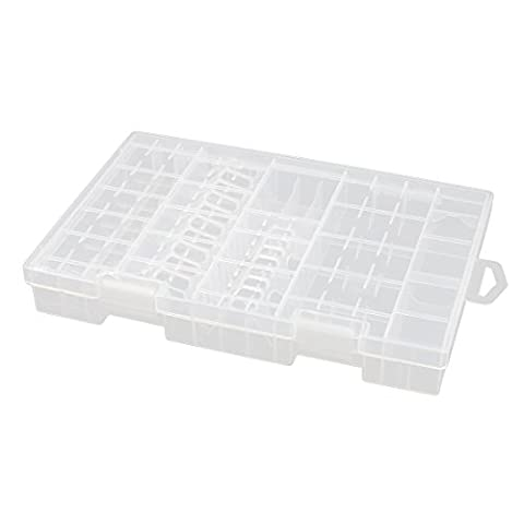 sourcingmap® Hard Plastic Case Holder Storage Box Container for 10-20 x AA Battery