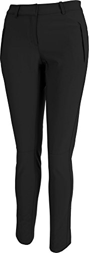 Slazenger Damen Tech Golf Hosen, Damen, Schwarz, 4 -