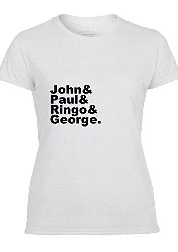 John Paul Ringo George Beatles Damen T-Shirt & Weste T-Shirt (Entwurf auf Front)