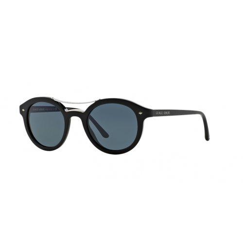 Giorgio Armani Herren AR8007 Sonnenbrille, Schwarz (Matte Black 5001R5), One size (Herstellergröße: 48)