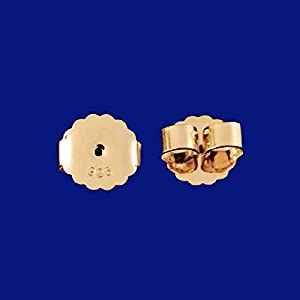Große Ohrmuttern Silber 925 vergoldet Ohrring Rückenteile