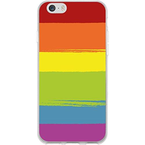 PhoneNatic Apple iPhone 6 Plus / 6s Plus Custodia in Silicone pride M6 Case iPhone 6 Plus / 6s Plus + pellicola protettiva Motif: 6