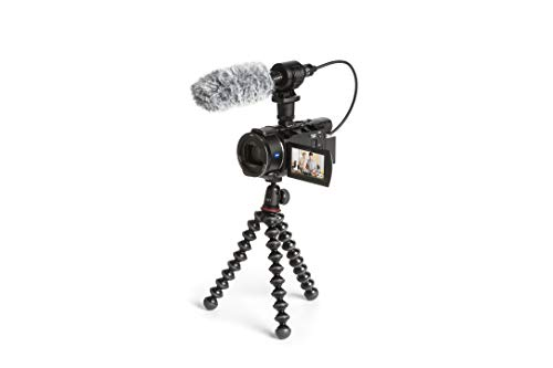 Sony FDR-AX53 Creator Kit - 4K Ultra Handycam Creator Kit mit Mikrofon ECM-CG60 and Joby GorillaPod 1K (Ideal für Vlogger, YouTube) Schwarz