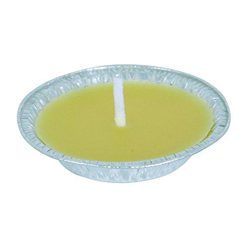 MSV 150062 Bougie Coupelle Métal/Paraffine/Citronnelle Jaune Diamètre 11,5 cm