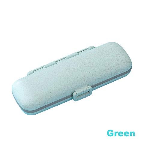Pillendosen kleine pillenbox ergänzungskoffer für Taschen oder Geldbeutel abnehmbare fächer reisemedikament-tragekoffer, 7 kleine quadrate