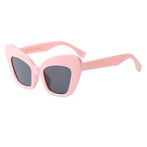 Oyedens GD-Doppelstrahl-Sonnenbrille mit großer Fassung - Frauen Männer Vintage Retro Brille Unisex Mode Übergroßen Rahmen Sonnenbrille Eyewear