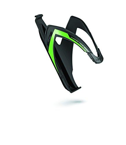 Elite Custom Race - Bike Fiber Bottle Cage, elastomer rubber, Color Black Matte / Green, One Size