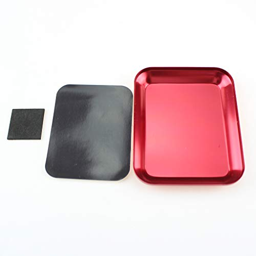FairOnly Magnetische Schraubenablage Platte Aluminiumlegierung Schraubenablage für RC Auto LKW RC Modell Elektronik Reparatur Handwerkzeug red