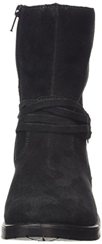 Ricosta  Nina, Bottes de neige de hauteur moyenne, doublure chaude filles Noir (schwarz Black)